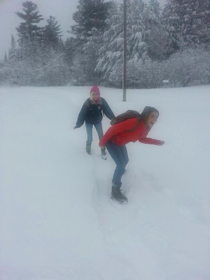 GetKnit Events Guru, Suzie, Hiking through a Minnesota Blizzard