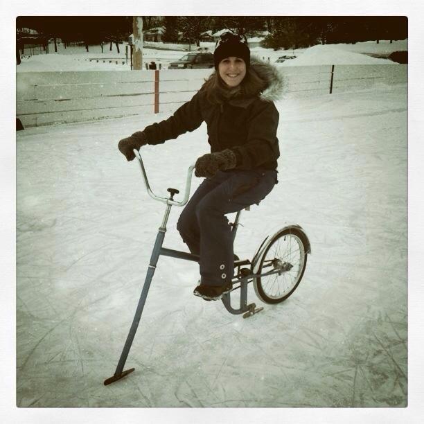 Ice Skate Bike - Winter in Minnesota