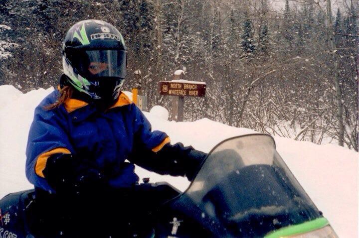 GetKnit Events Guru, Suzie, Snowmobiling in Minnesota