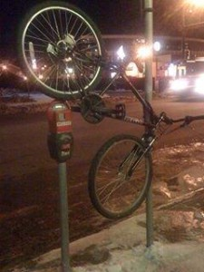 Keeping Bike from Getting Covered in Snow from Plow, Minnesota