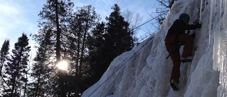 Ice climbing on Gooseberry Falls