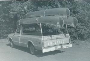 hauling canoes