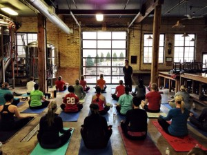 Yoga at the Brewery - GetKnit Events and 612 Brew
