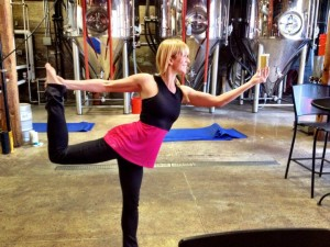 yoga instructor for getknit events yoga at the brewery