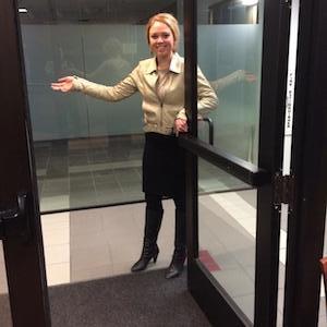 holding door
