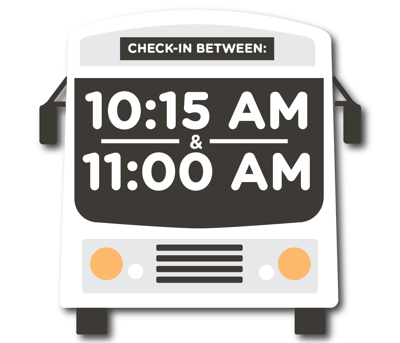 10:15 AM to 11:00 AM - Check-in Window