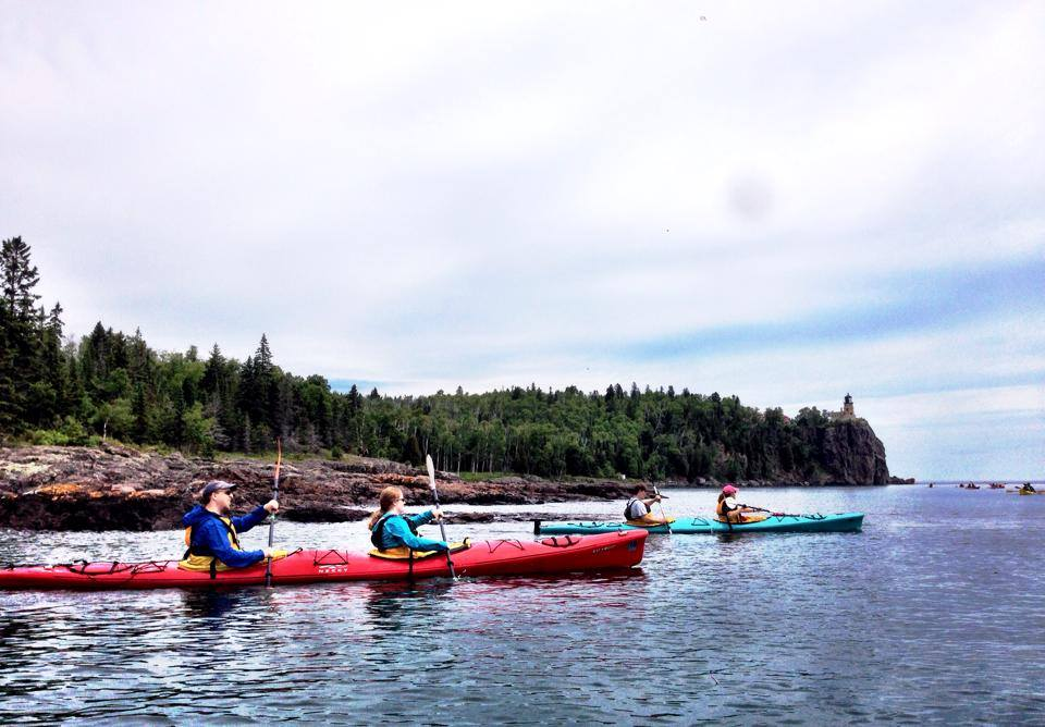 GetKnit Kayaking Lake Superior