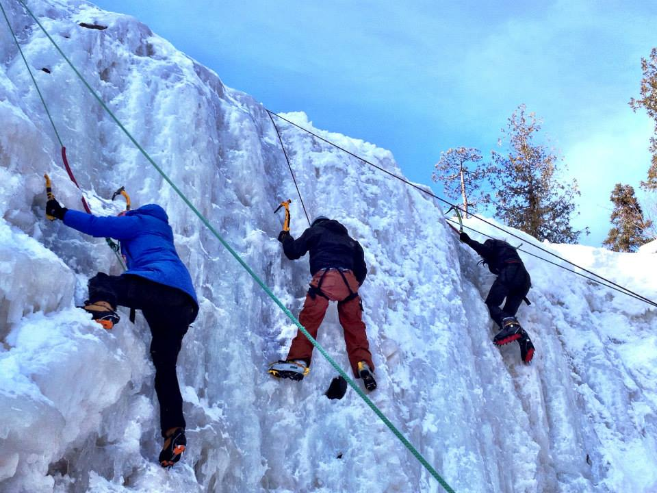 GetKnit Ice Climbing at Gooseberry Falls