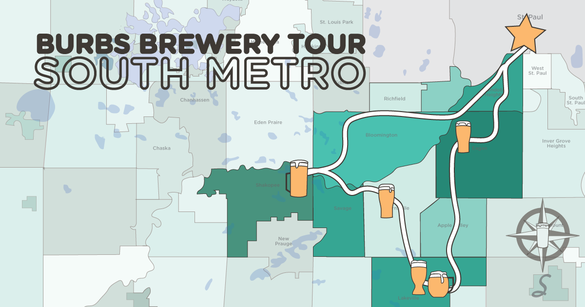 Burbs Brewery Tour - south metro!