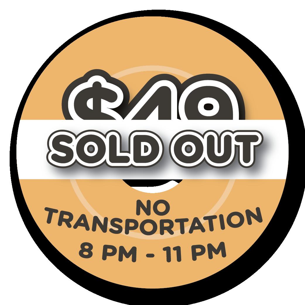 $49 - NO Transportation
