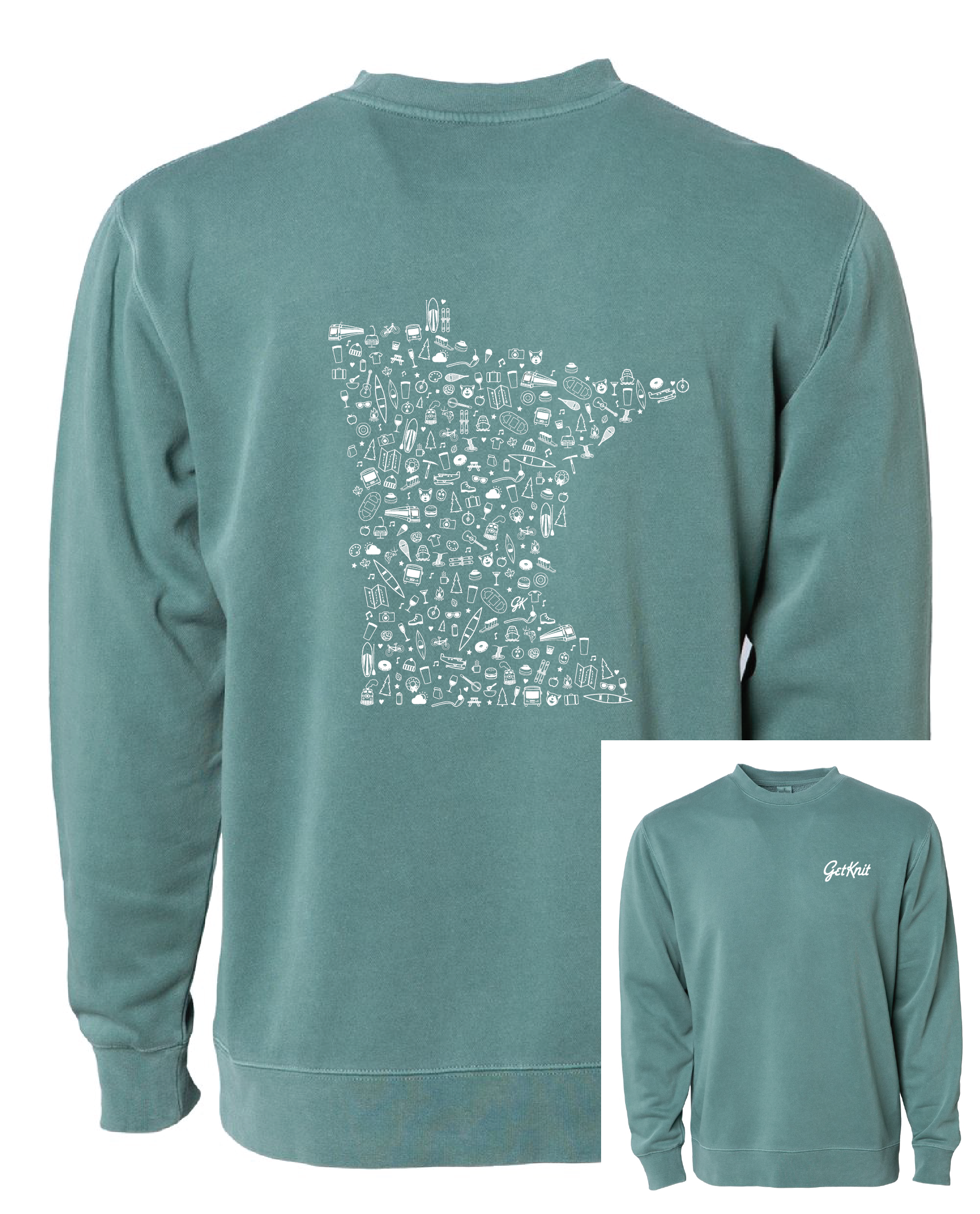 GetKnit Icons MN Pigment-Dyed Sweatshirt