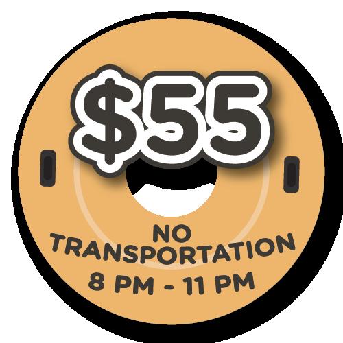 $55 - NO Transportation